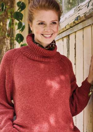 tricot femme pull col roulé en laine