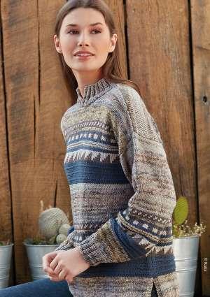 tricot femme pull à motif en laine