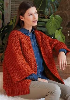 gilet en laine au crochet pour femme