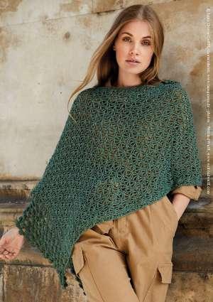 poncho en laine au crochet pour femme