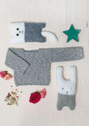 doudou et pull pour enfant en laine