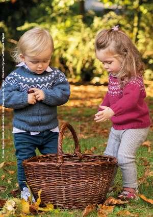 pull motif pour enfant tricoté en laine