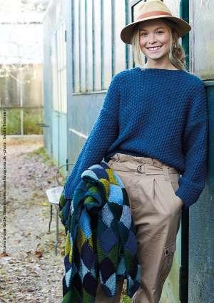 pull couverture tricoté laine