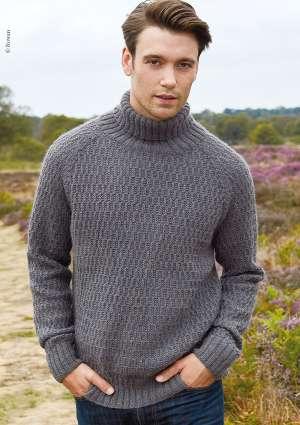 pull pour homme tricoté en laine