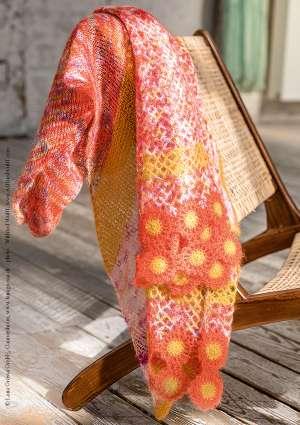 modèle châle orange