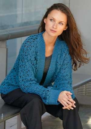 modèle gilet femme bleu
