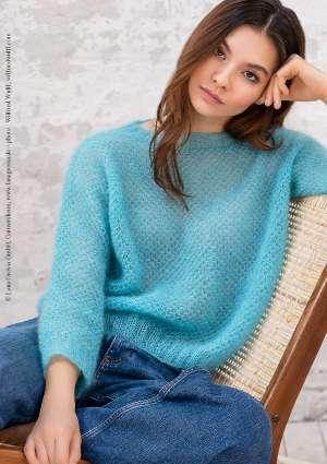modèle pull femme bleu