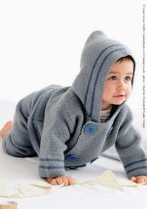 enfant capuche tricot ensemble