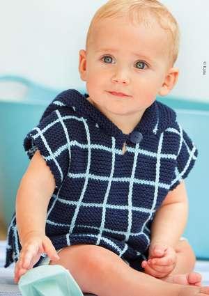 enfant poncho modèle tricot
