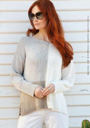 pull bicolor femme