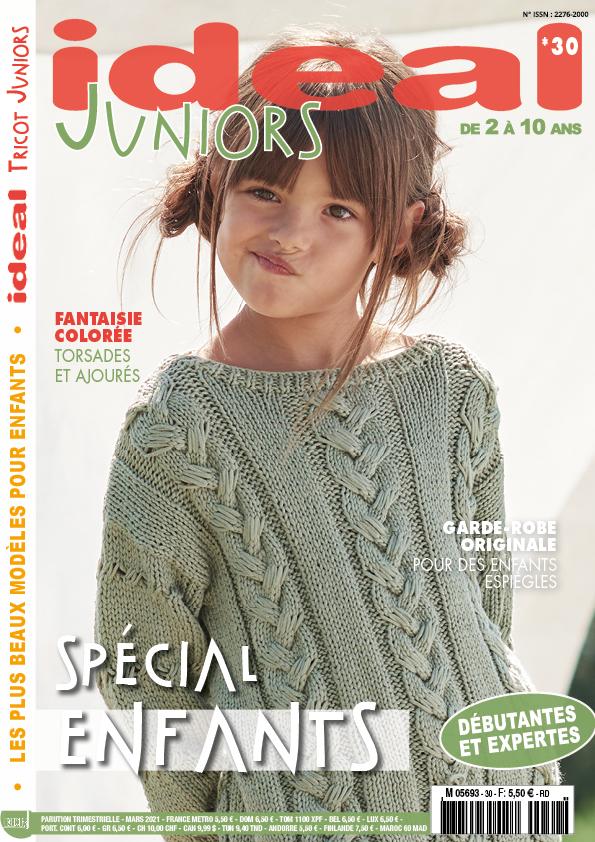 couverture tricot junior, petite fille pull en laine vert clair