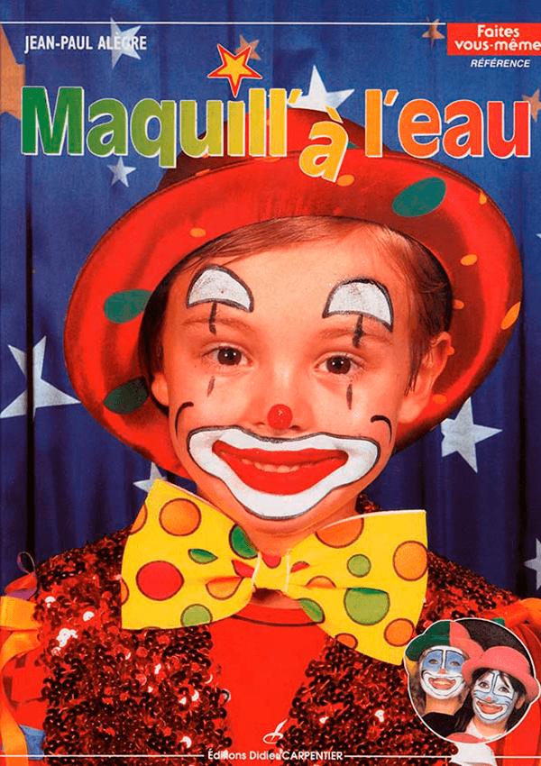 maquillage de clown sur un enfant