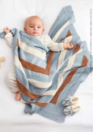 couverture bébé rayures