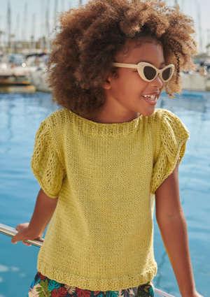 pull jaune enfant