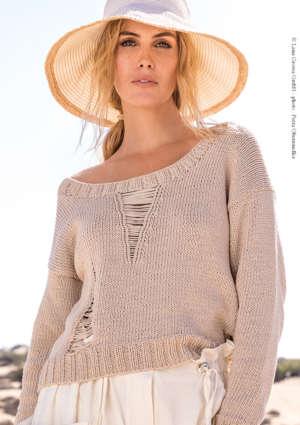 modèle femme pull