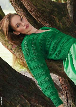 pull vert femme