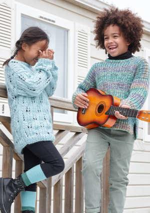 enfants tricot guitare