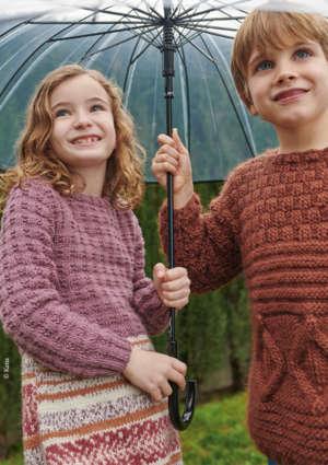 modèles tricot pull texturé